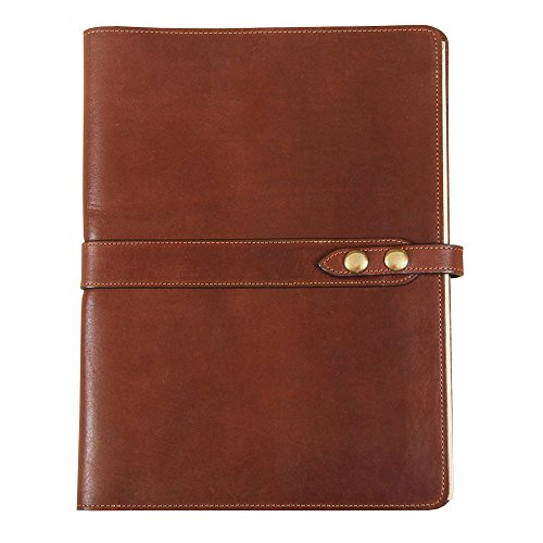 Leather Business Portfolio Notebook Folio Writing Pad Brown No. 25 USA Made by Col. Littleton