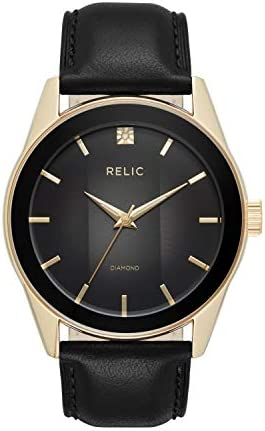 Relic via Fossil Men's Rylan Quartz Stainless Steel Diamond Accent Dress Watch