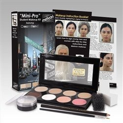 [Mehron Mini-Pro Student Makeup Kit FAIR / OLIVE FAIR - Theater and Stage] (Special Effects Makeup Kit)
