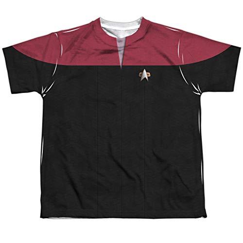 Star Trek Voyager Command Uniform (Front Back Print) Big Boys Shirt LG ()