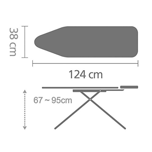 Brabantia Ironing Board with Steam Iron Rest, Size B, Standard - Ecru Cover by Brabantia (Image #3)