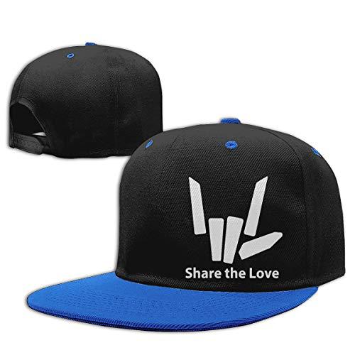 Baby Girl Baseball Cap Share The Love Cotton Trucker Hat Blue
