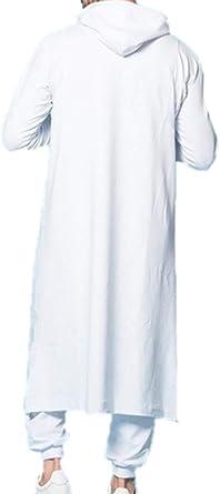 Túnicas con Capucha Musulmanas Hombres Camisa con Capucha de Manga Larga Oriente Medio Árabe Casual Loose Pullover Robes: Amazon.es: Ropa y accesorios