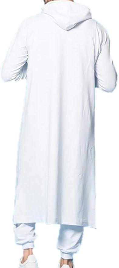 Batas Musulmanas Hombres Oriente Medio Kaftan árabe Thobe Arabia Saudita étnico de Manga Larga con Capucha: Amazon.es: Ropa y accesorios