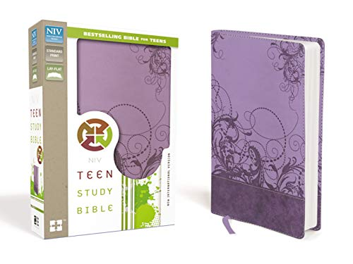 NIV, Teen Study Bible, Leathersoft, Purple
