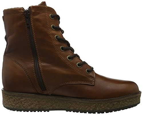 Bianco Flatform Laced Up Boot Son16, Zapatillas de Estar por Casa para Mujer Marrón - Braun (Light Brown/24)