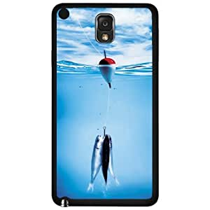 Fishing in Clear Blue Water with Hook, Line and Baitfish Hard Snap on Phone Case (Note 3 III)