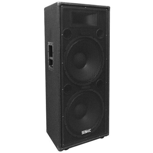 - Seismic Audio FL-155PC-Single Dual Premium 15-Inch PA/DJ Speaker Cabinet with Titanium Horn 800-Watts RMS