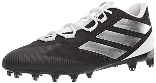 adidas Men's Freak Carbon Low Football Shoe, Silver Metallic/Black, 9.5 M US