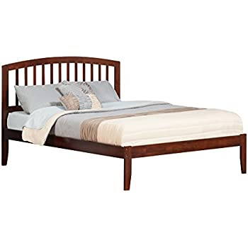 Charmant Atlantic Furniture Richmond Bed With Open Foot Rail, Queen, Antique Walnut