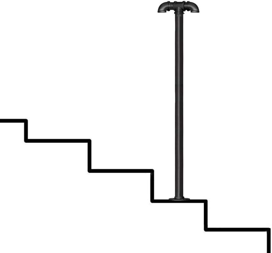 YERT- Barandilla de Escalera 80cm-T, Kit Completo. La Base de la Brida de Hierro Fundido y el Tornillo de expansión Son fijos, el diámetro del Tubo es de 3.2 cm
