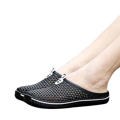 Tortor 1bacha Unisex Adulto Caviglia Zoccolo Sandalo Sandalo Scarpe Nere