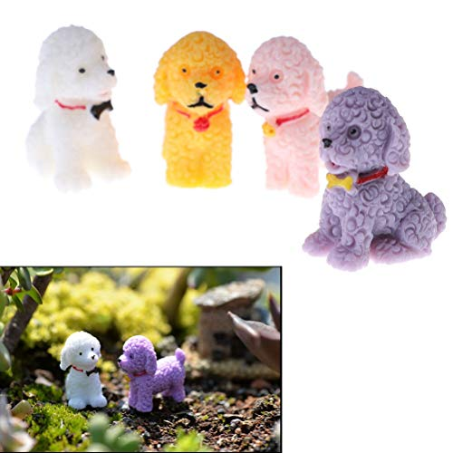 Miniature Figures - 2.2 2.7 Cm Cute Dog Home Decor Figurine Lovely Micro Landscape Figures Moss Terrarium Fairy Garden - Trees Statue Shop Mushrooms Collection Couple Furniture Fence Leprechaun