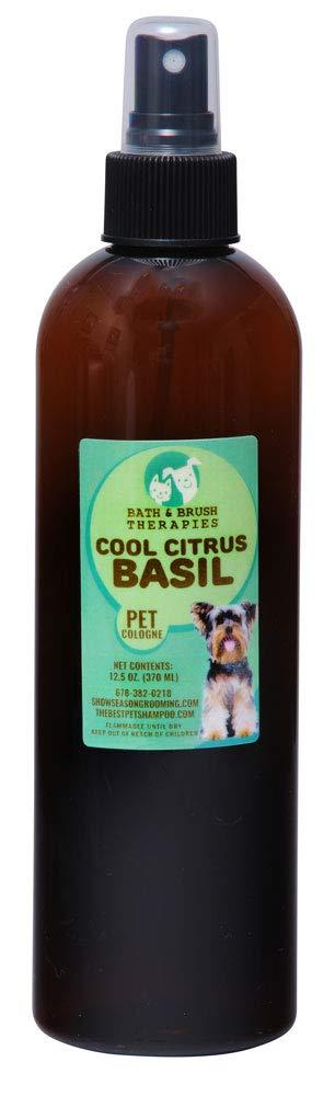 Bath & Brush Therapies Cool Citrus Basil Pet Cologne 12.5 oz for Dogs