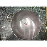 Cos route Traditional Indian Handmade Cast Iron Kadai Cooking Wok Cast Iron Wok Kadhai 2 Liter Cast Iron Kadhai