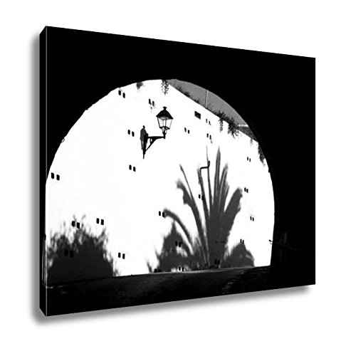 Ashley Canvas Tunnel In A Street Of San Antonio On The Island Of Ibiza Balearic Islands Spain, Kitchen Bedroom Living Room Art, Black/White 24x30, AG6516730 by Ashley Canvas