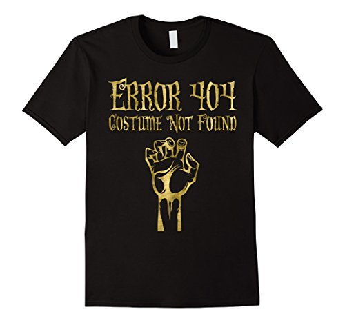 Error 404 Costume Not Found Image (Mens Halloween Shirt Faux Gold Error 404 Hand 3XL Black)