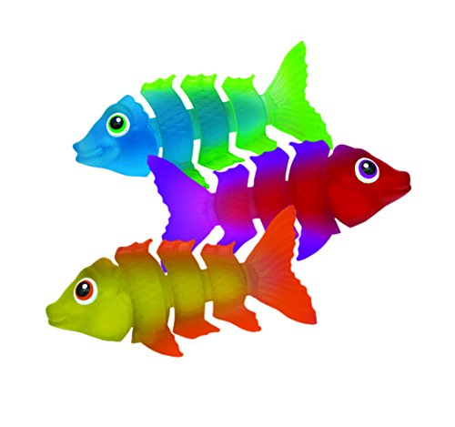 41TWt2O73QL - SwimWays Fish Styx Pool Diving Toys - Sinking Fish-Shaped Swim Toys - Pack of 3