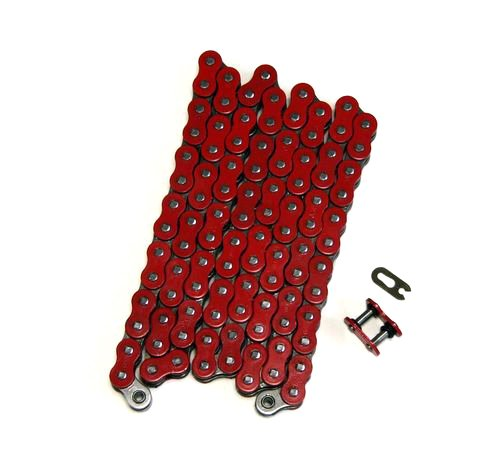 Factory Spec, FS-520-OR, Heavy Duty Red O-Ring Drive Chain 520x110 ORing 520 Pitch x 110 Links O - O-ring Chain Drive