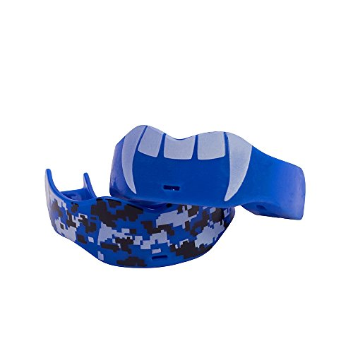 Soldier Sports Fang & Camo Mouthguard, One Size, Royal ()