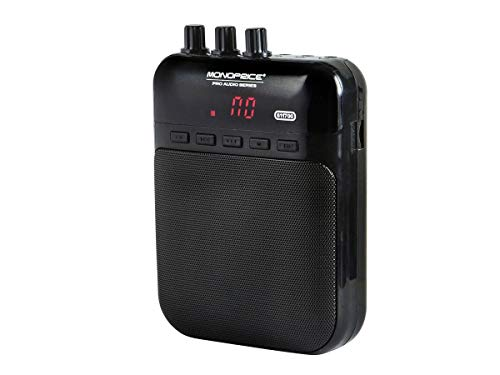Monoprice 5-Watt Mono Guitar Amplifier/Portable Recorder - Black With USB Audio Interface, 4-ohm speaker, Guitar Distortion Effects And Micro SD Card -