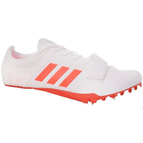 adidas Performance Mens Adizero Accelerator Track Running Spikes Shoes - 10.5US White ()