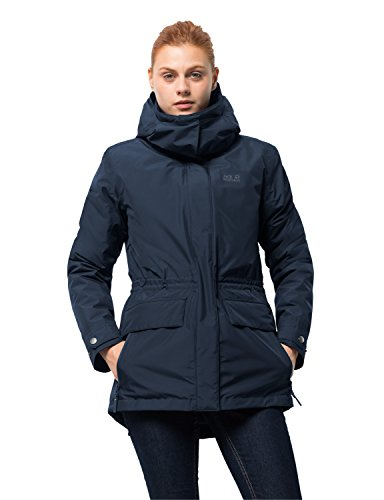 Jack Wolfskin Women's Insulated Waterproof Tallberg Jacket, Midnight Blue, - Midnight Taffeta Jacket