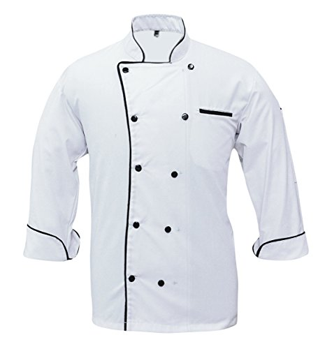 Leorenzo Creation PN-71 Men's Chef Coat with Single Piping (Size- XS, White Colour)