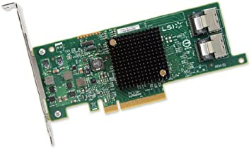 LSI Logic Controller Card LSI00301 SAS 9207-8i 8Port Internal SAS/SATA 6Gb/s PCI Express Single Retail