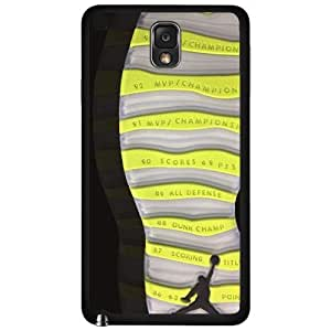 Designer Shoe Print Retro X 10's Venom Green Hard Snap on Phone Case (Note 3 III) by icecream design