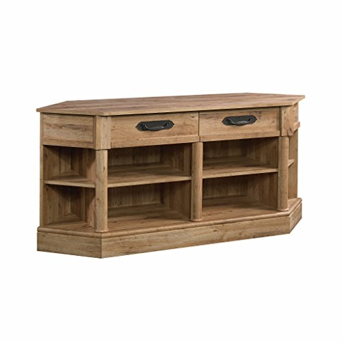 Sauder Viabella Corner Entertainment Credenza, For TV s up to 60 , Antigua Chestnut finish