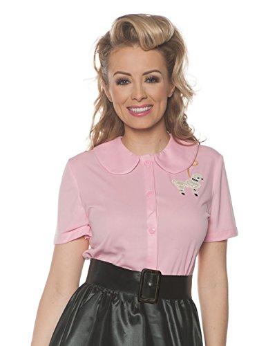Underwraps Women's 1950's Poodle Shirt Costume-Pink,