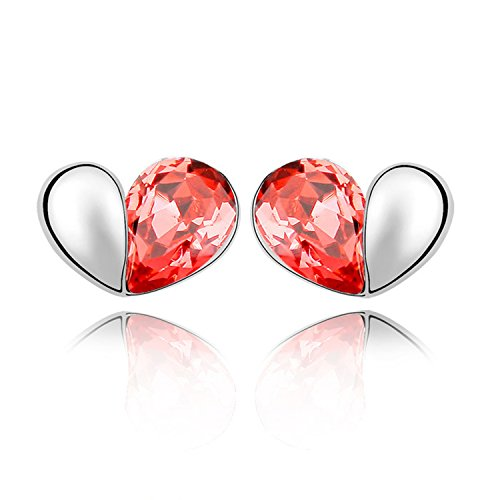 Ablaze Jin Elements Crystal Earrings Love Secret Words Earring Fashion Jewelry,Water Lotus Red
