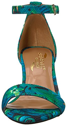 Aerosoles Womens Laminaat Dress Pump Blauw / Groen Combo