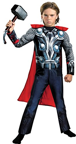 Thor Ultimate Costume (UHC Boy's Marvel Avengers 2 Thor Theme Party Outfit Child Halloween Costume, S (4-6))