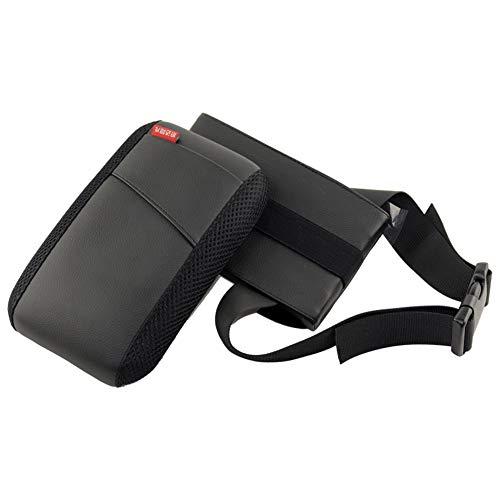 GFYWZ Car Elbow Support Pads, Car Center Console Rotatable Armrest Pad Fit Armrest Box Vehicle,Black