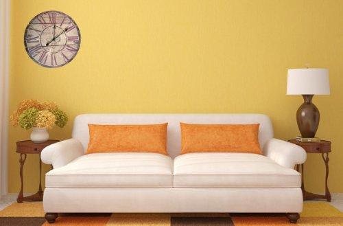 "Lulu Decor, Fleur De Lis Wood Wall Clock, Diameter 23.50"", Perfect for Housewarming Gift. (Antique)"