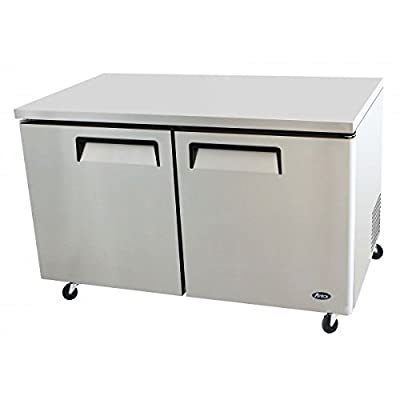 Atosa USA MGF8407 Stainless Steel Undercounter 60-Inch Two Door Freezer