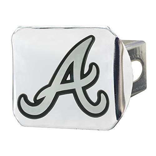 FANMATS MLB - Atlanta Braves Hitch Cover - Chrome