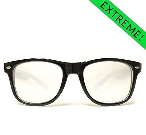 GloFX Ultimate EXTREME Double Diffraction Glasses – Black - Warranty Rave Prism Rainbow Trippy EDM Raver Shades
