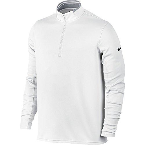 NIKE Men's Dry Half-Zip Golf Shirt, White/Wolf Grey/Black, (Golf Pullover)