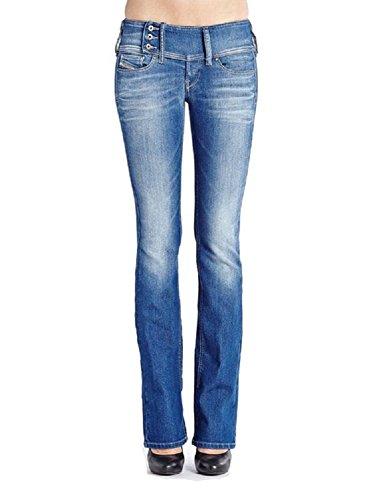Diesel Womens Clothing - DIESEL Cherock 0607n Regular Slim Bootcut Light Blue (27 Long 32)