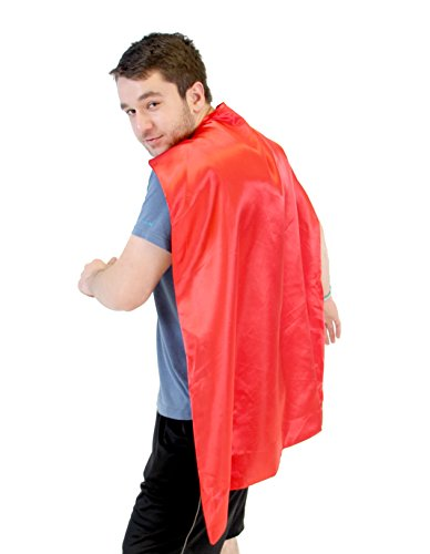 Reversible Adult Red and Red Superhero Custom Personalized Costume Cape (Halloween Fancy Dress Ideas Make Your Own)