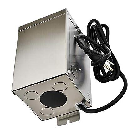 3289-12V Stainless Steel Landscape Lighting Transformer MarLG 300-Watt Low Voltage Multi-Tap 12V//13V//14V//15V ETL-Listed