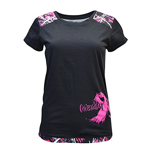 Muddy Girl Camo Women's Breast Cancer Awareness Shirt, Muddy Girl, Large