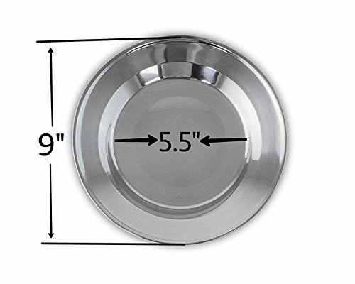 welltree Stainless Steel Plate/Dish Set - Best for Backpacker or Camping, Ideal for Toddlers and Kids by welltree (Image #3)