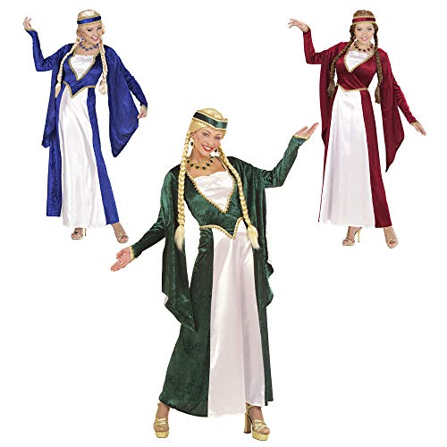 Renaissance Queen 3 Cols Costume Large for Medieval Royalty Middle Ages Fancy Dress -