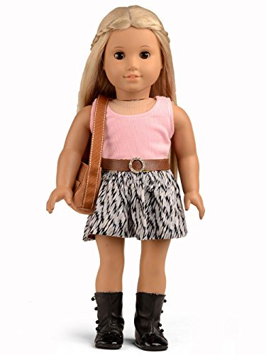 - Sweet Dolly Doll Clothes for 18 Inch American Girl Dolls 3pc. Fashion Skirt Set