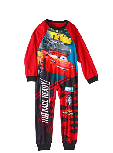 Disney Cars Little Boys One Piece Fleece Sleeper Pajama (6/7)