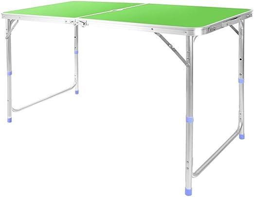 RANRANJJ Mesa plegable de aluminio de 4 pies. Mesa para acampar de ...